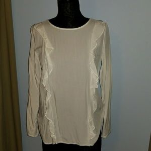 Old Navy Ruffle Front Blouse